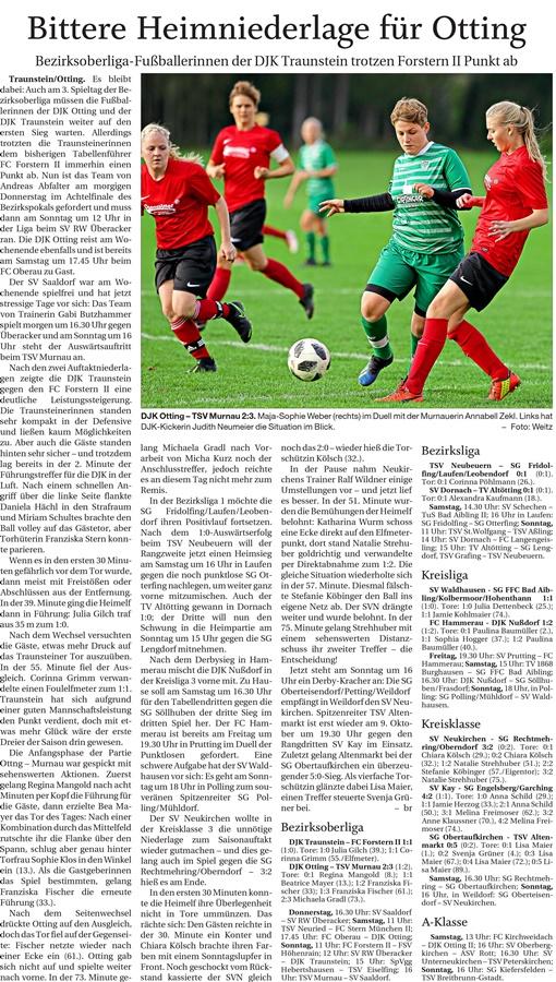 03. Spieltag: TSV Altenmarkt - (SG) Obertaufkirchen/Grüntegernbach 2019-2020
