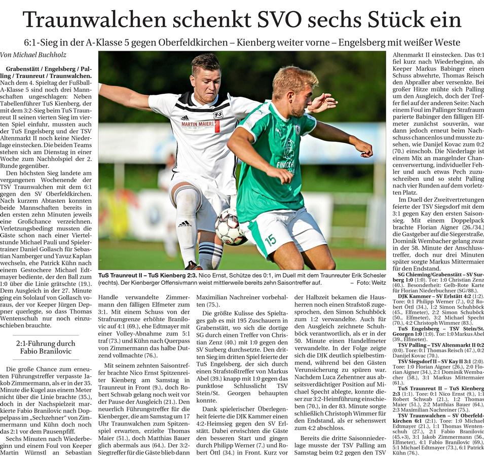 04. Spieltag: TSV Altenmarkt - TSV 1920 Palling 2019-2020