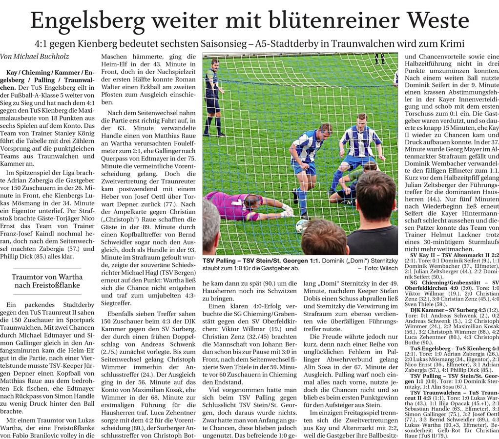 06. Spieltag: TSV Altenmarkt - SV 1966 Kay II 2019-2020