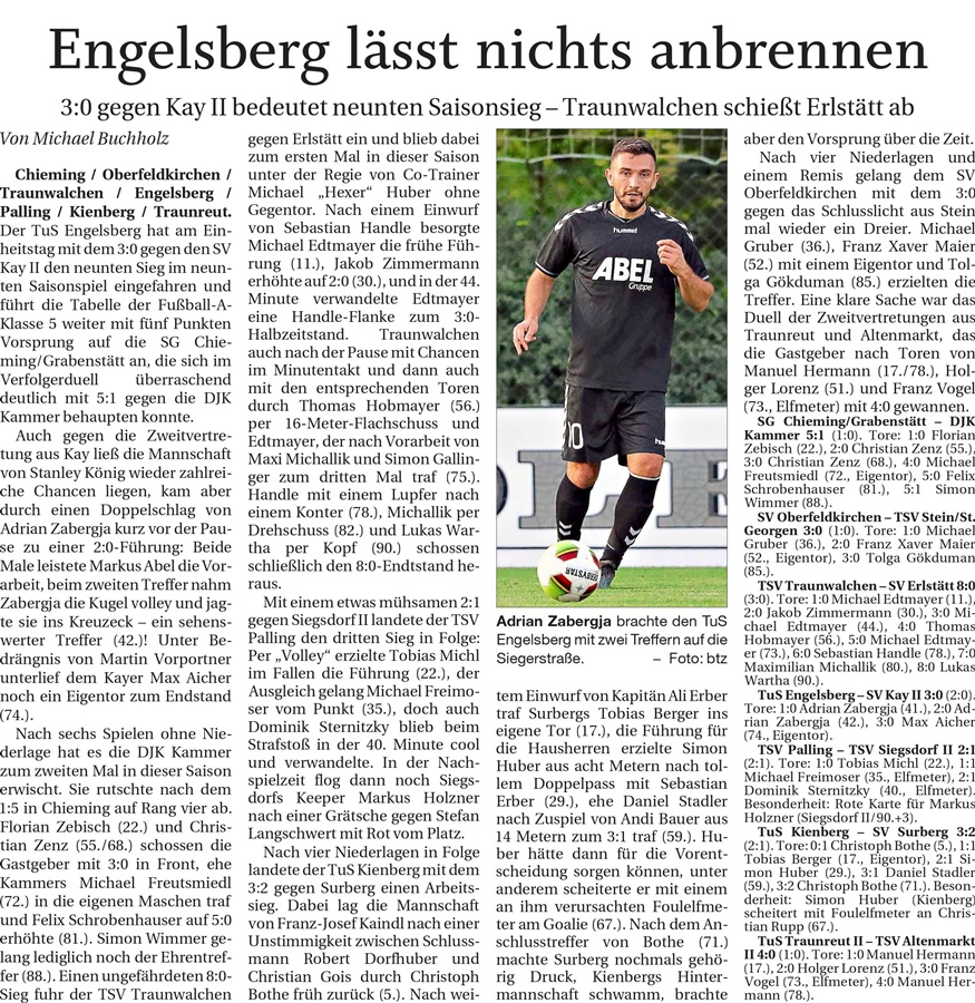 09. Spieltag: TSV Altenmarkt - TuS Traunreut II 2019-2020