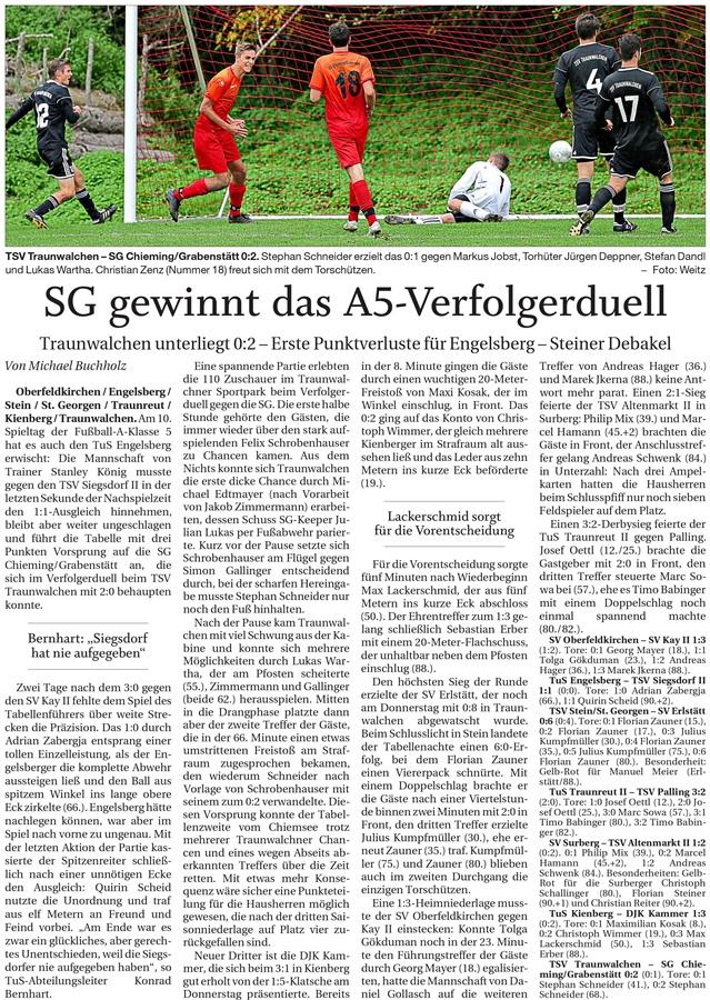 10. Spieltag: TSV Altenmarkt - SV Surberg 2019-2020