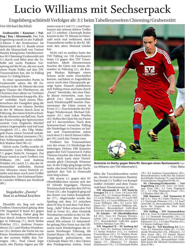 11. Spieltag: TSV Altenmarkt - TSV Stein St. Georgen 2019-2020