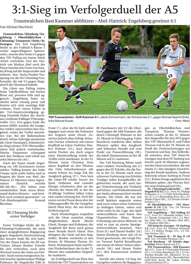 12. Spieltag: TSV Altenmarkt - SV Oberfeldkirchen 2019-2020
