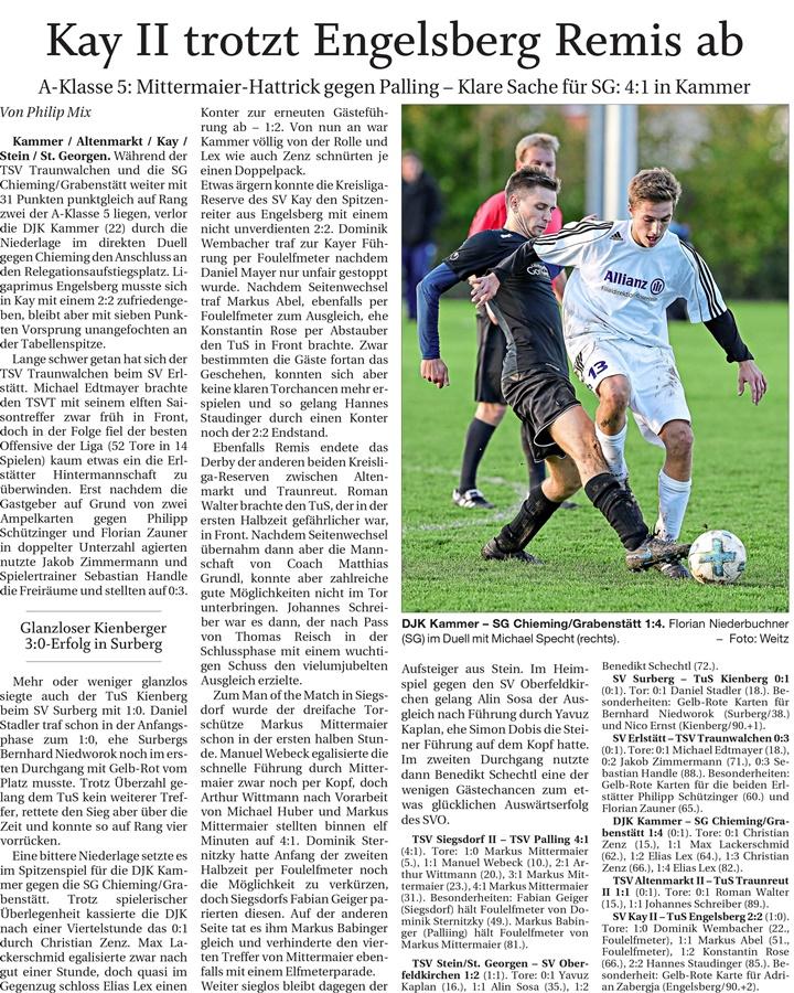 14. Spieltag: TSV Altenmarkt - TuS Traunreut II 2019-2020