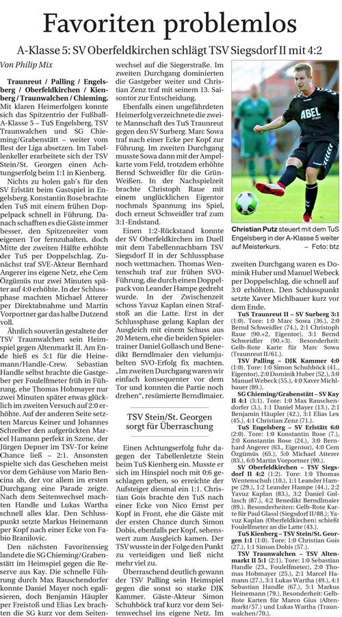 15. Spieltag: TSV Altenmarkt - TSV Traunwalchen 2019-2020