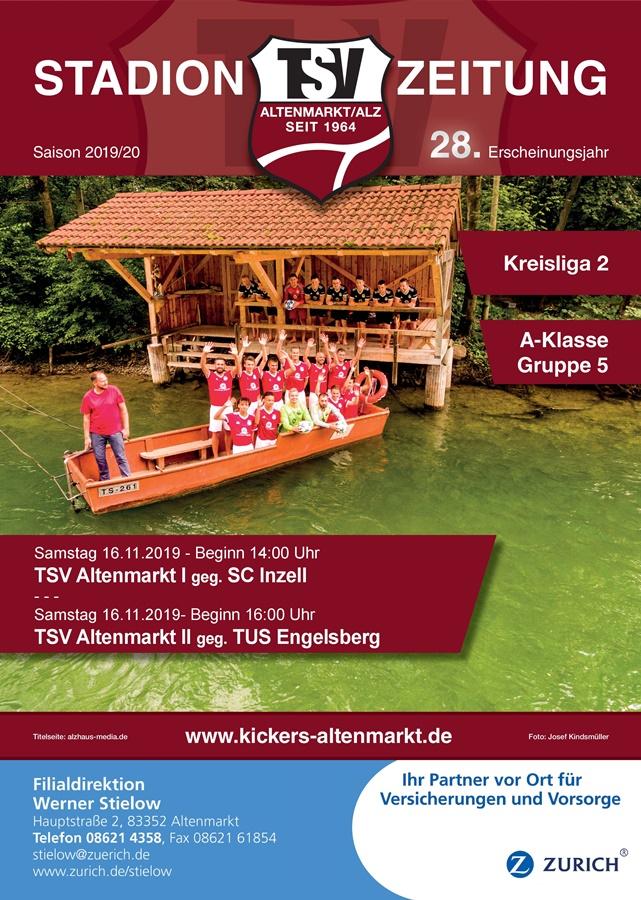 Stadionzeitung - Titelseite 2019-2020 Ausgabe: 7