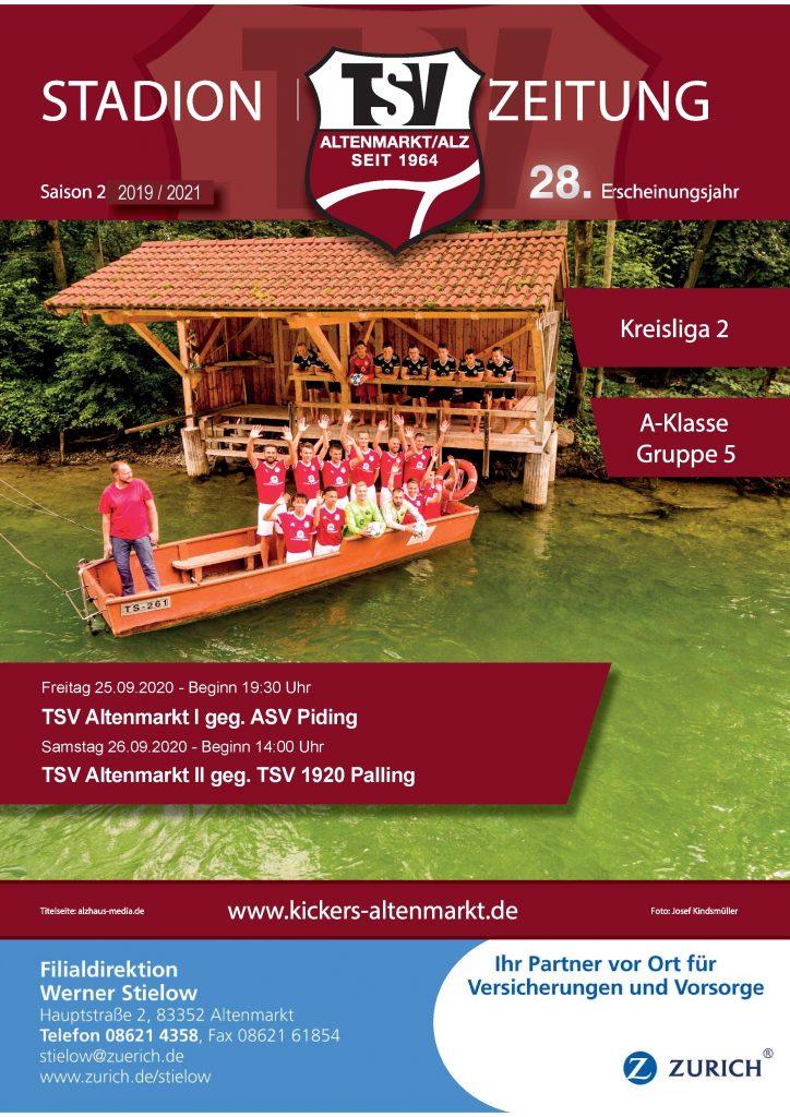 Stadionzeitung - Titelseite 2019-2020 Ausgabe: 8